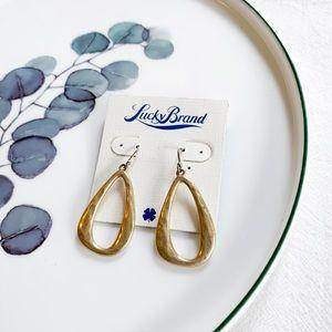 Lucky Brand Hoop Drop Earrings Gold